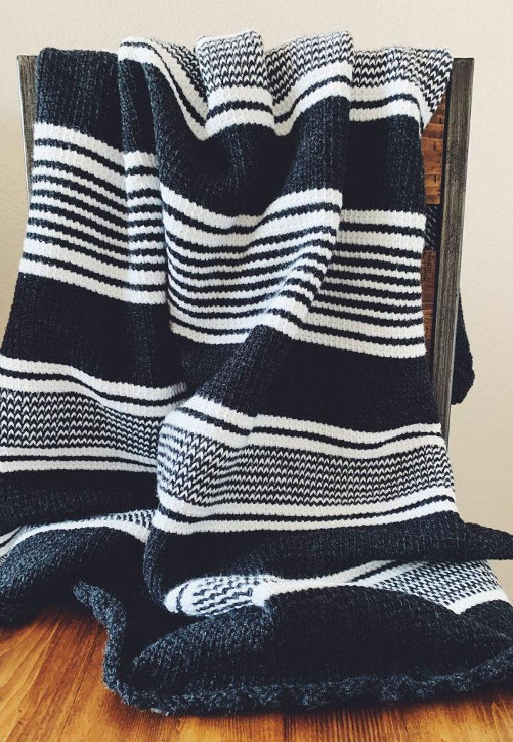 Tunisian Crochet Nordic Blanket Pattern