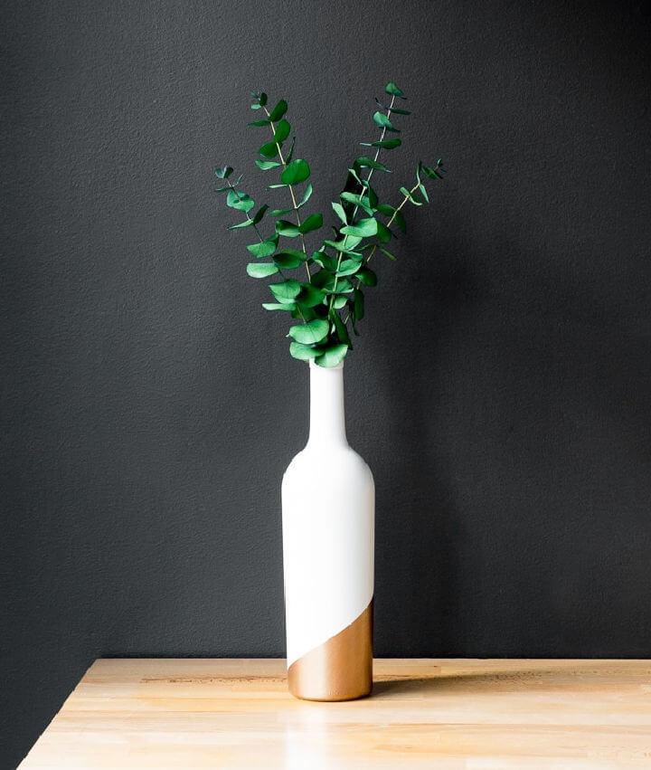 Upcycled Wine Bottle Vase Centerpiece