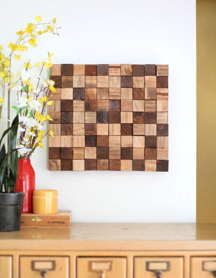 Wooden Mosaic Wall Art