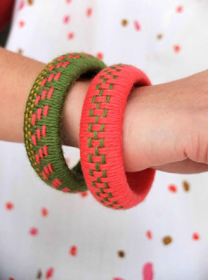 Woven Yarn Bangles