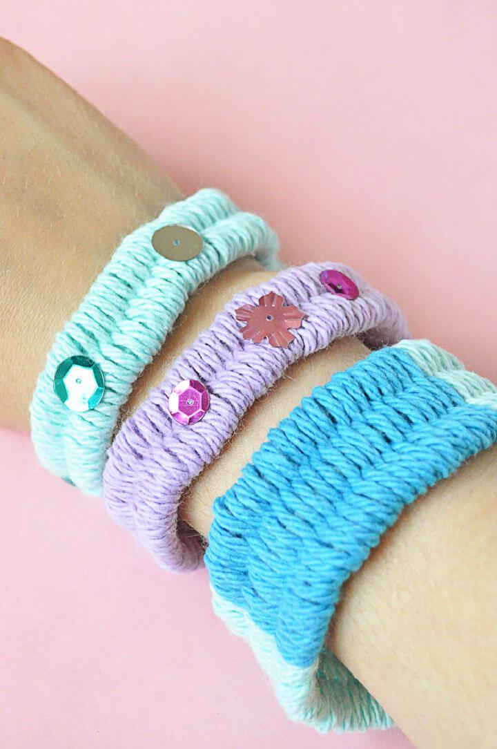 Woven Yarn Friendship Bracelets