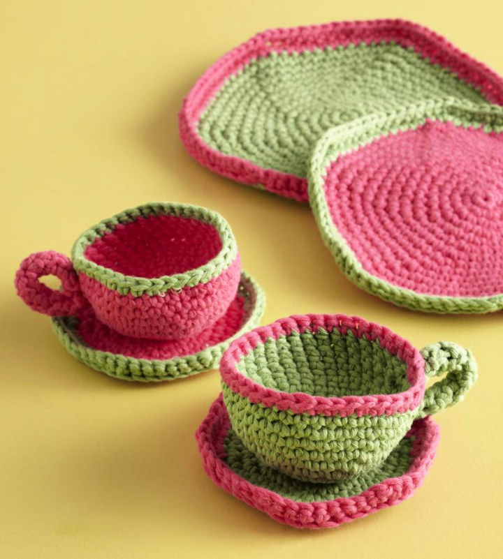 Afternoon Crochet Tea Cup and Saucer Pattern