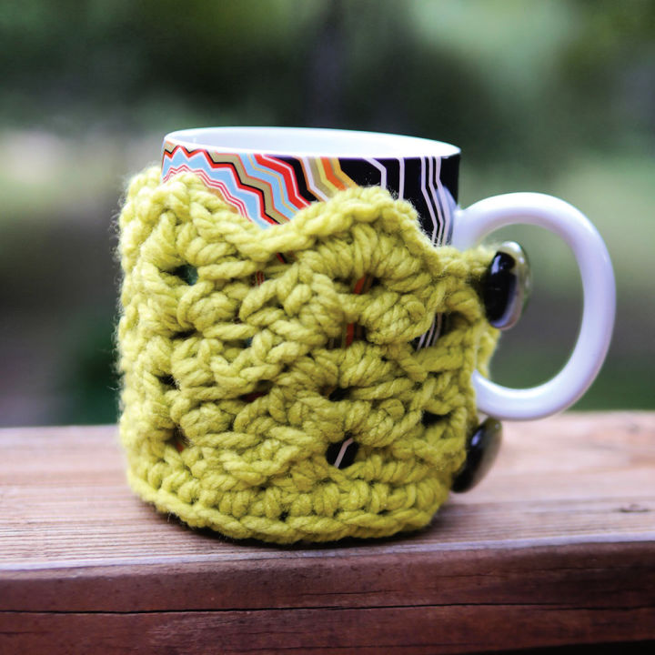 Bernat Cuppa Crochet Coffee Mug Cozy