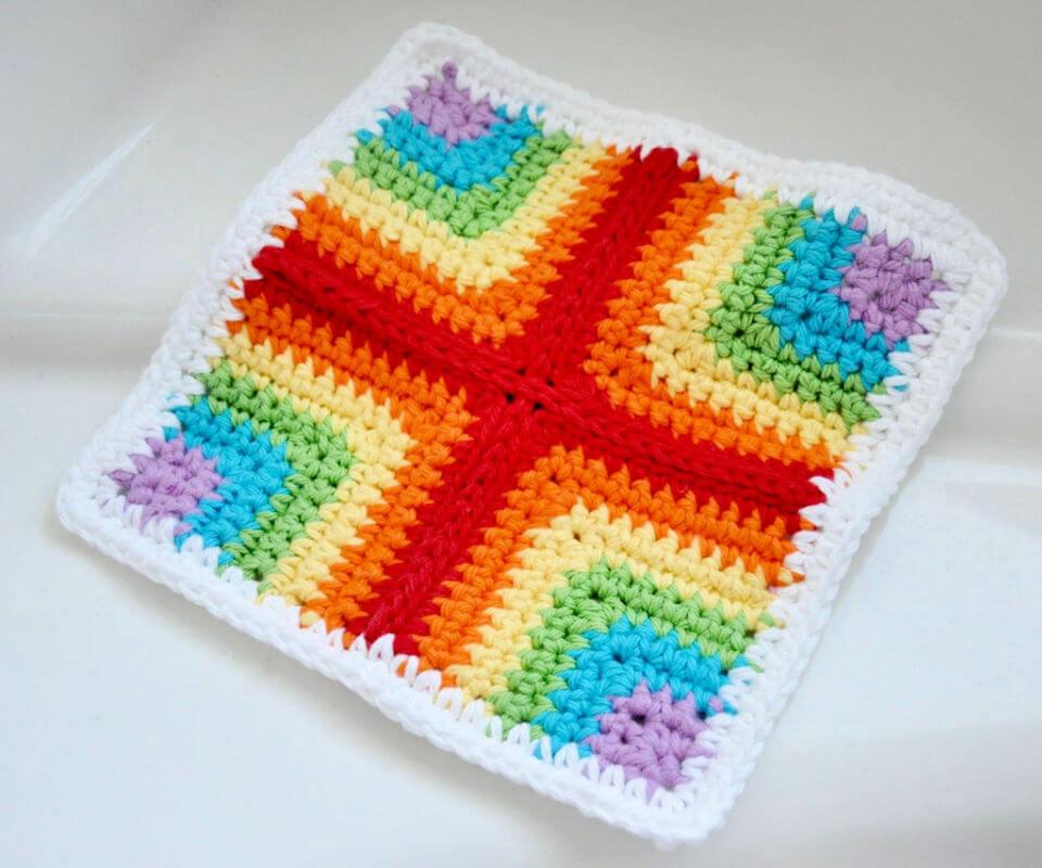 Best Pieced Crochet Dishcloth