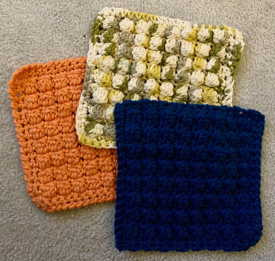 Bobble Dishcloths Crochet Pattern