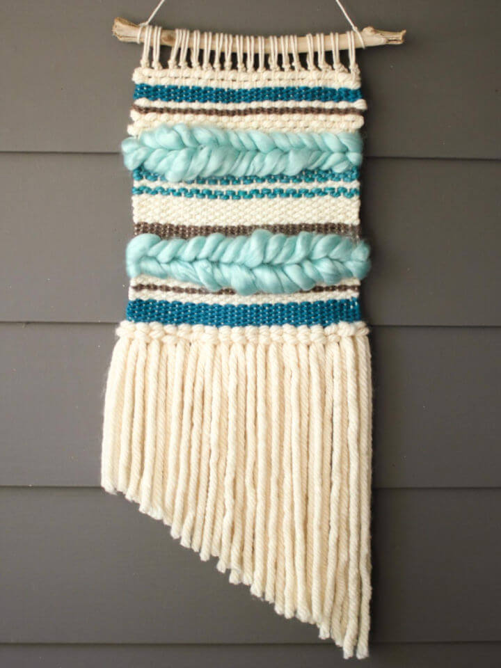 Boho Woven Wall Hanging without Loom
