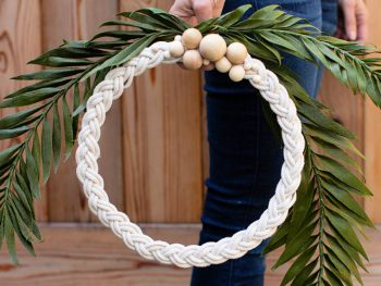 Braided Rope Wreath for Home Decor