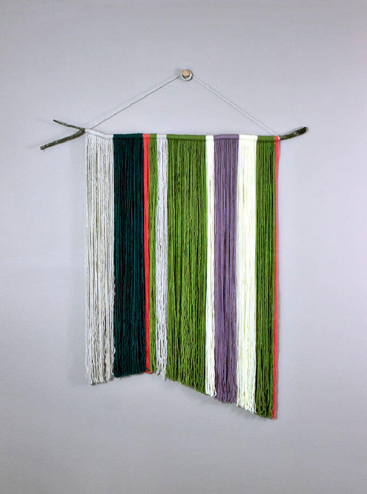 Branch and Yarn Wall Hanging