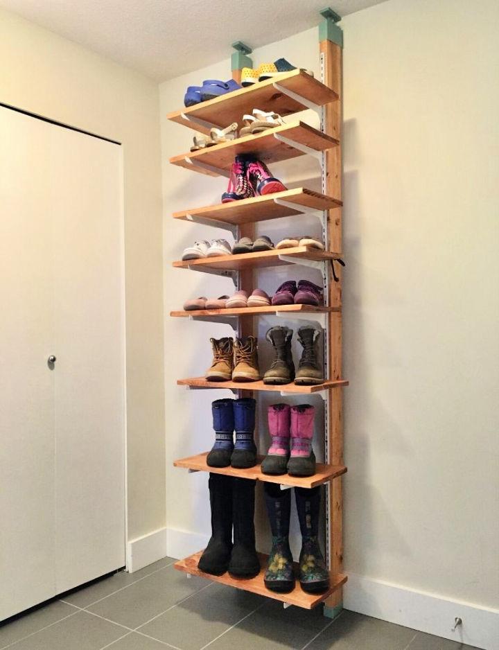 Build a Tall Shoe Rack