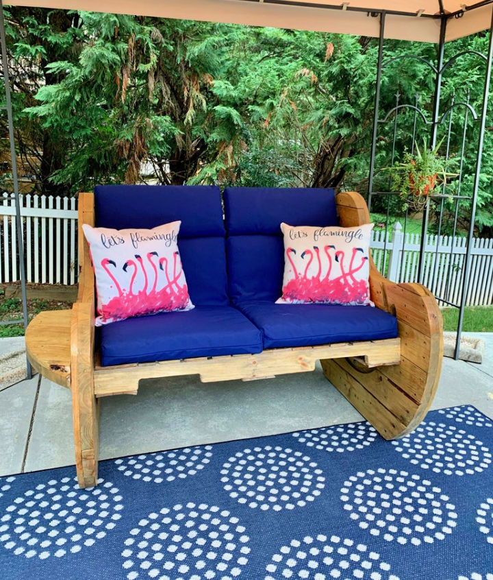 Cable Spool Pallet Bench