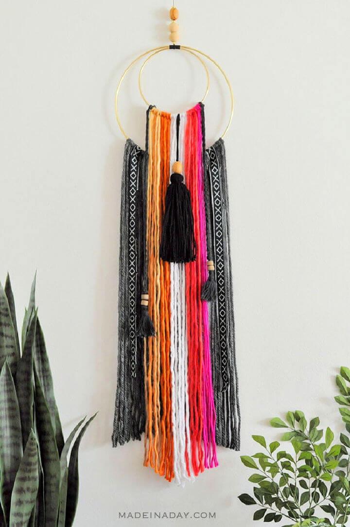 Colorful Baja Boho Fringe Wall Hanging