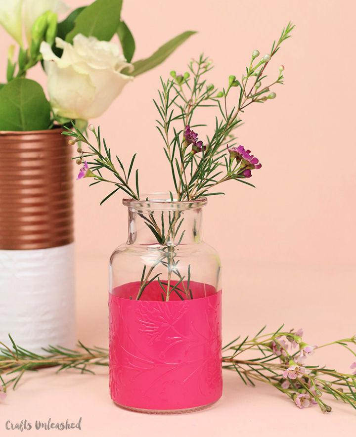 Colorful Embossed Vase
