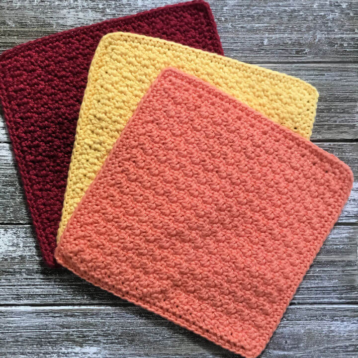 Colourful Dishcloths Crochet Pattern