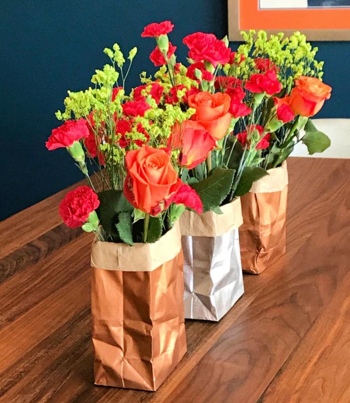 Cool DIY Paper Bag Vases