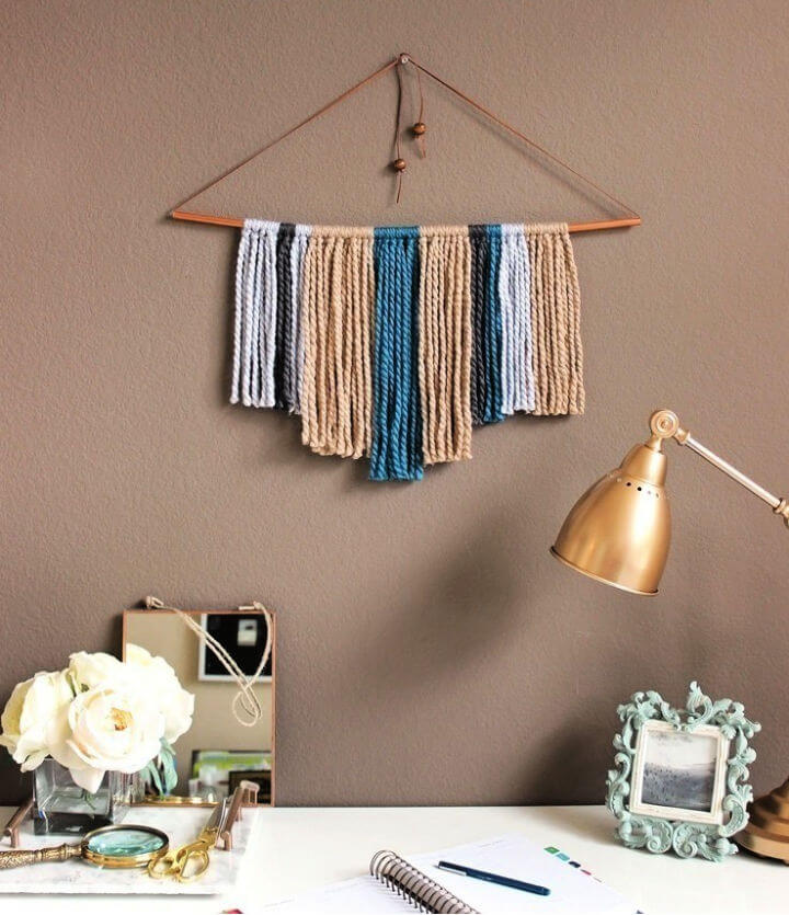 Copper Pipe and Yarn Wall Hanging