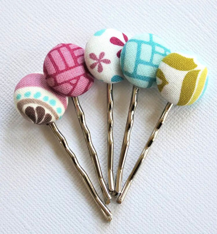 Covered Button Bobby Pins