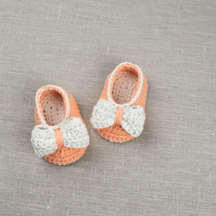 Crochet Baby Booties Orange Pumpkin