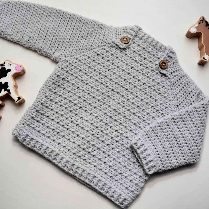 Crochet Baby Boy Sweater Pattern