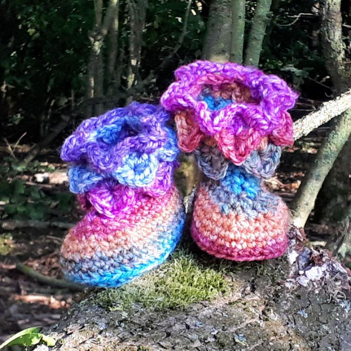 Crochet Baby Dragon Booties