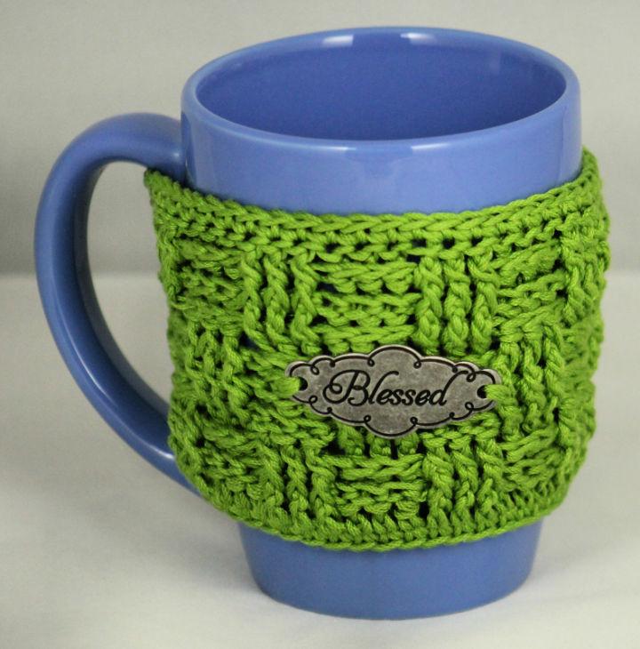 Crochet Basket Weave Mug Cozy