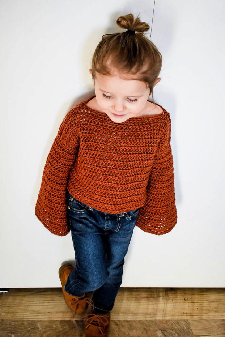 Crochet Bell Crop Sweater Pattern