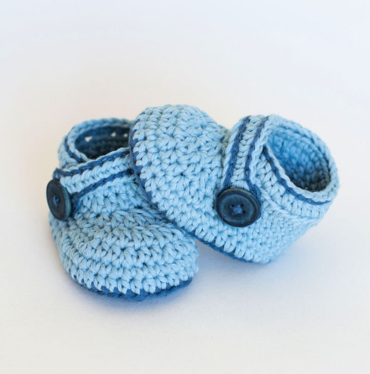 Crochet Blue Whale Baby Booties