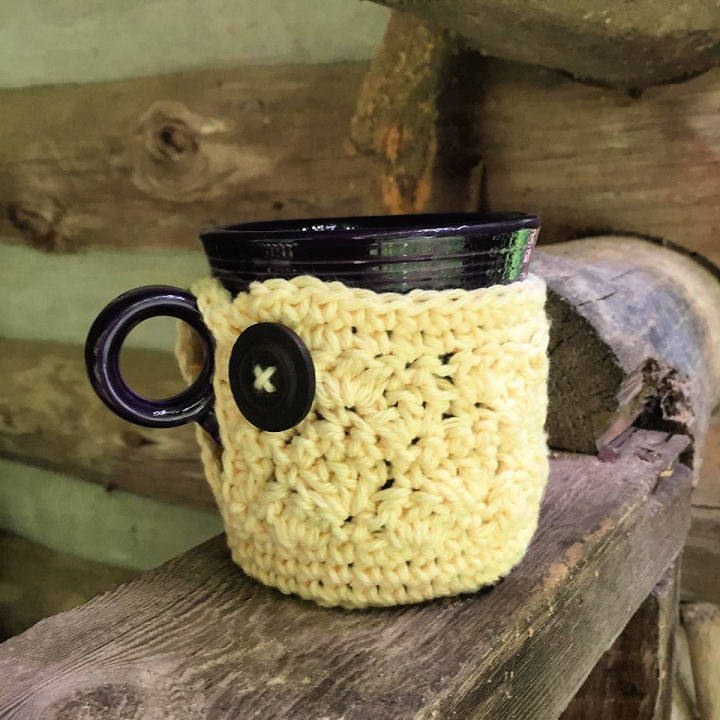Crochet Cabin Mug Cozy