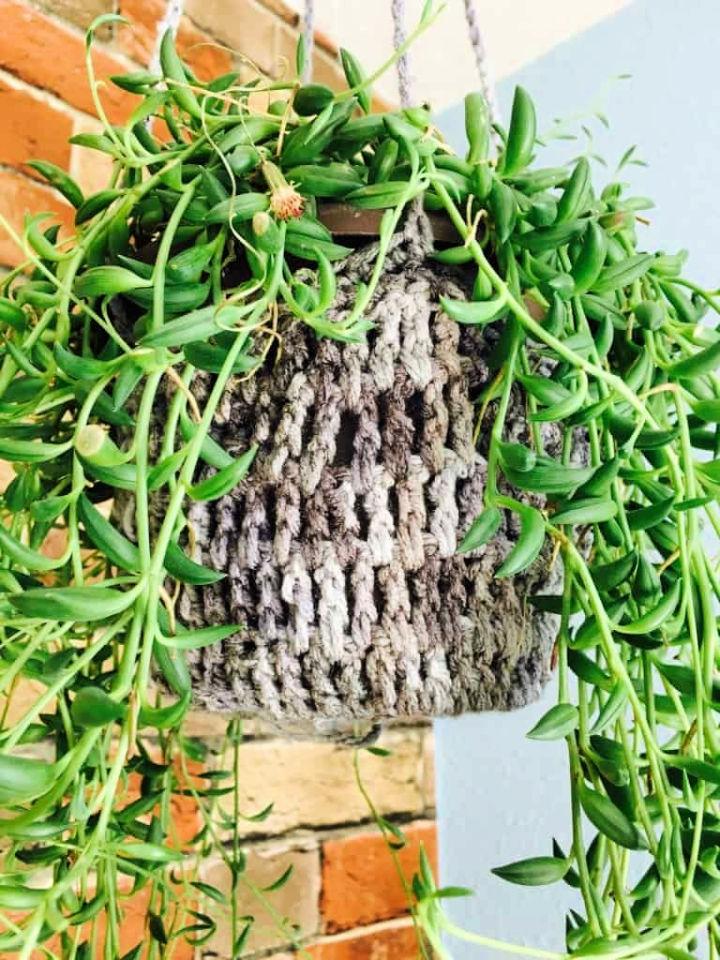 Crochet Ceiling Plant Hanger