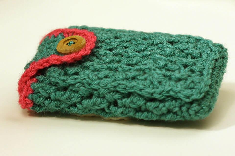 Crochet Cell Phone Case with Secret Pocket