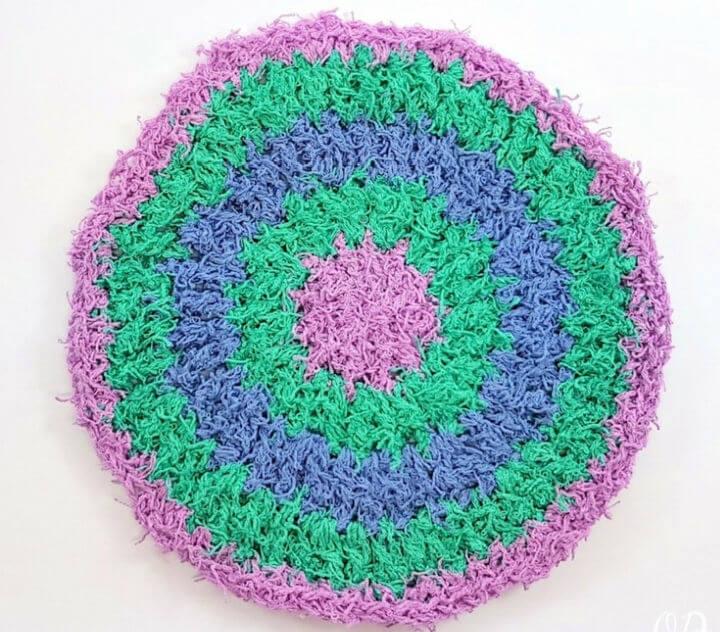 Crochet Circles Cotton Scrubby Dishcloth