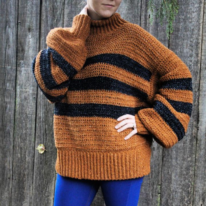 Crochet Cozy Calico Sweater
