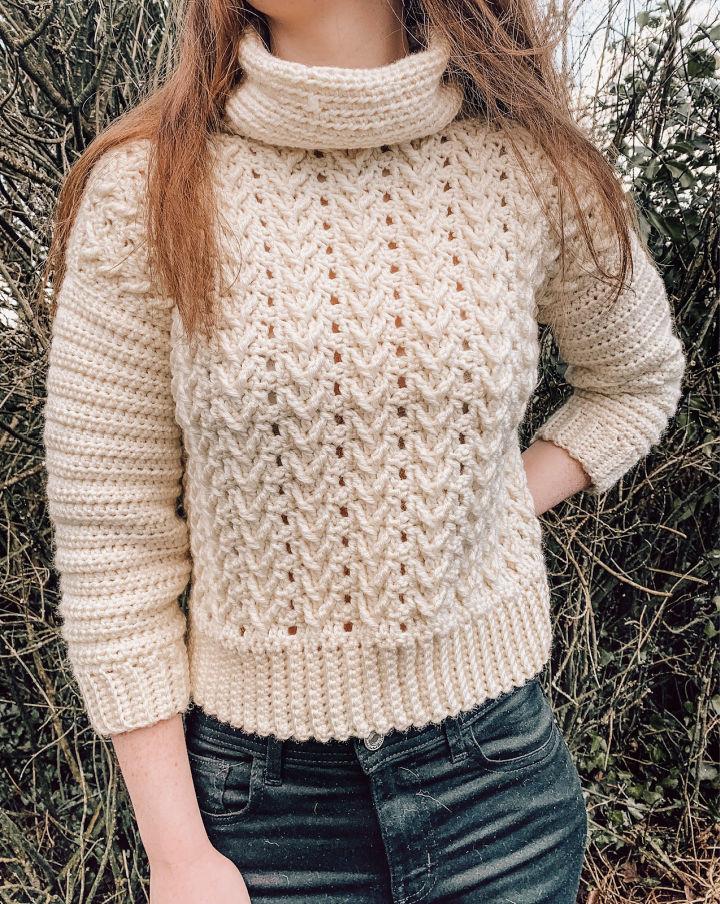 Crochet Cropped Laoise Sweater