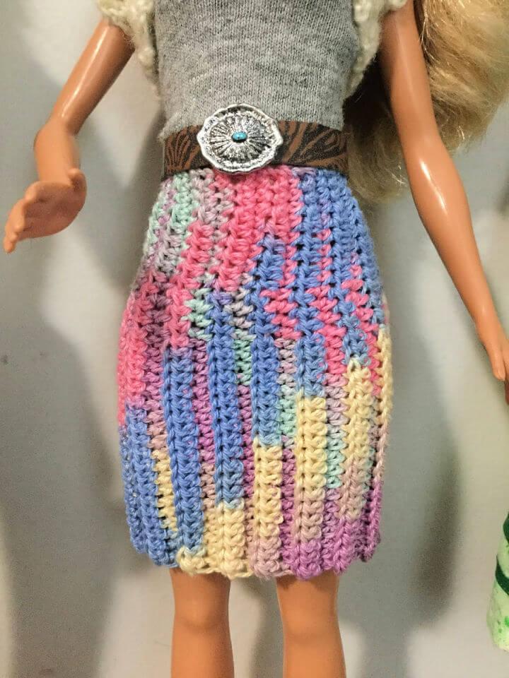 Crochet Doll Pleated Skirt Pattern