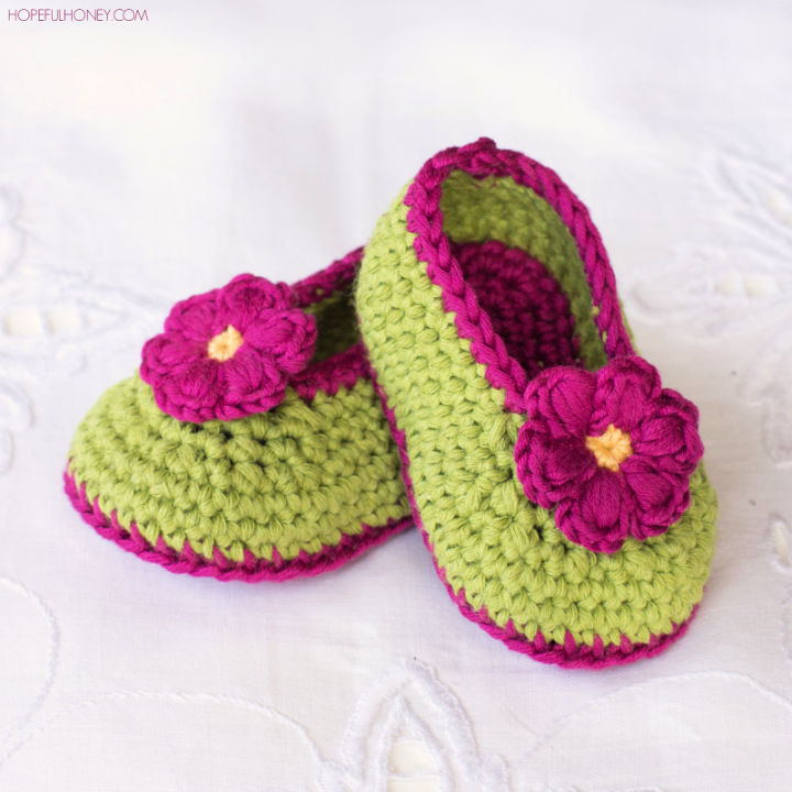 Crochet Fairy Blossom Baby Girl Booties
