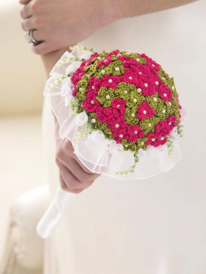 Crochet Flower Wedding Bouquet