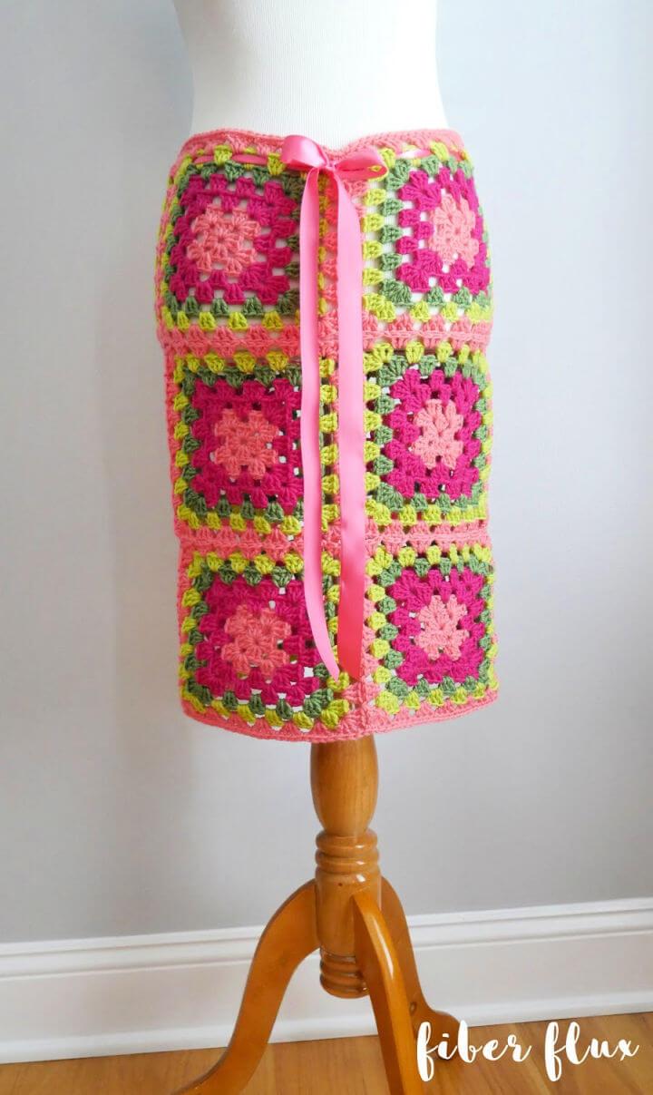 Crochet Graphic Blooms Convertible Skirt