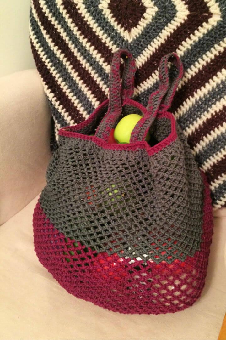 Crochet Grocery Bag Pattern