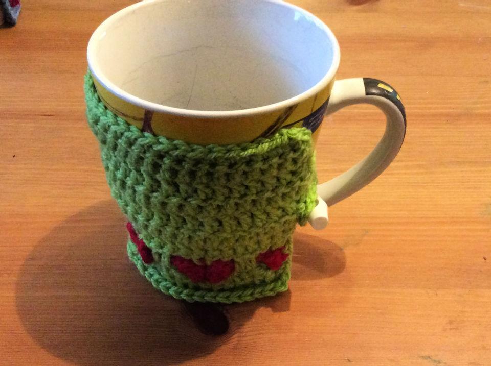 Crochet Heart Mug Warmer