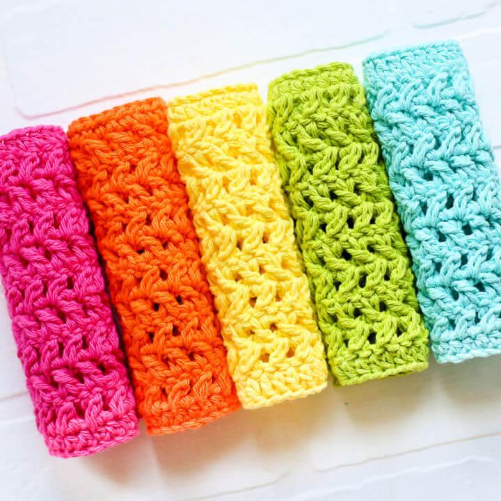 Crochet Herringbone Dishcloth Pattern