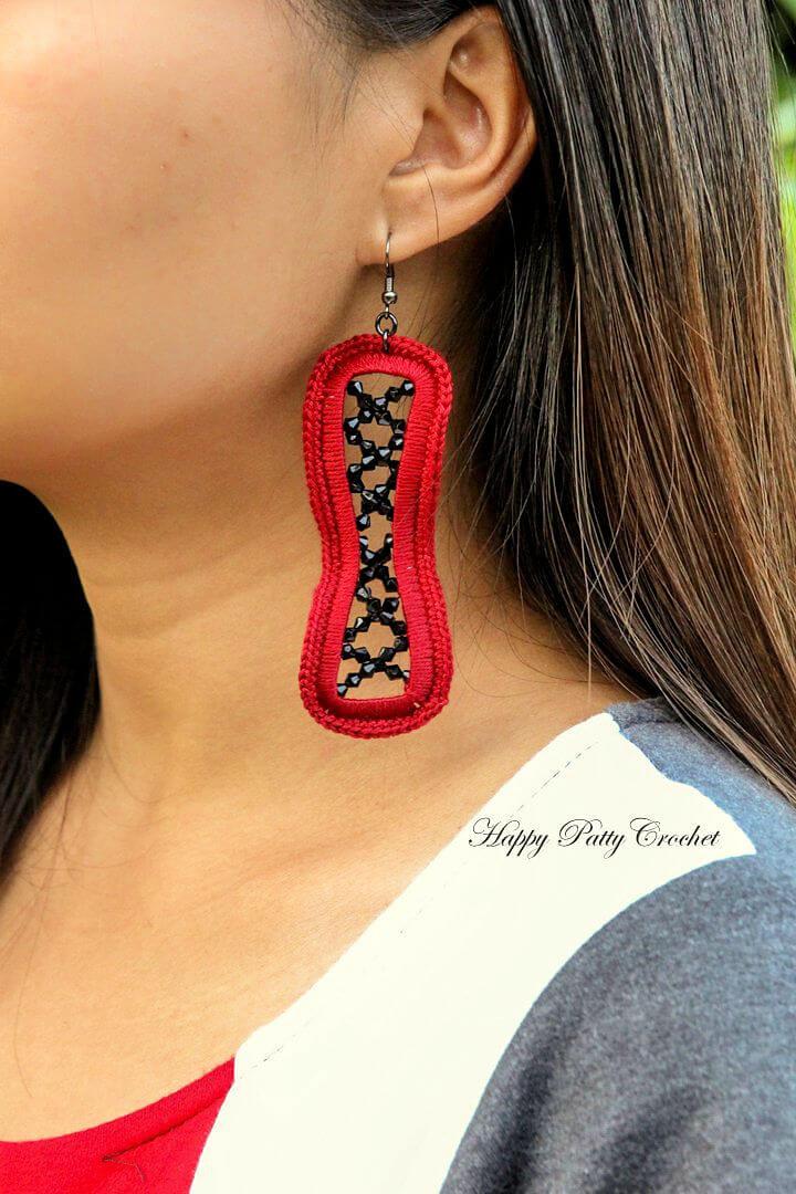Crochet Hourglass Earrings Pattern