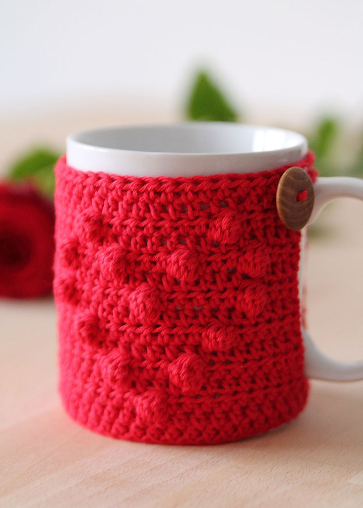 Crochet I Heart U Mug Cozy