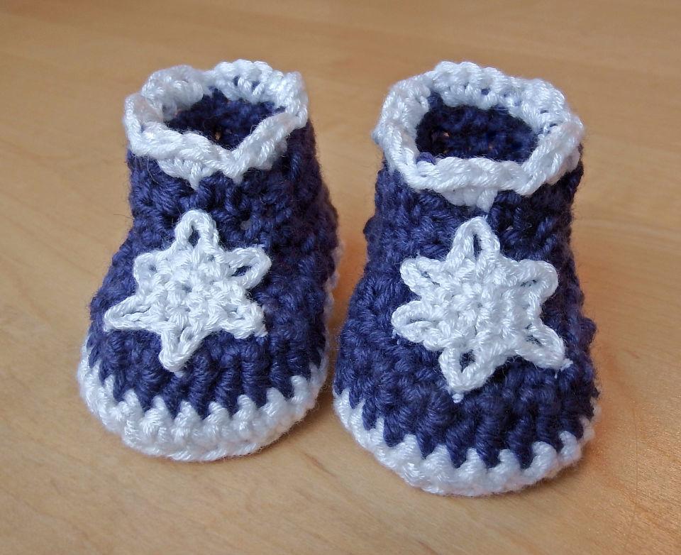 Crochet Icicles Baby Booties