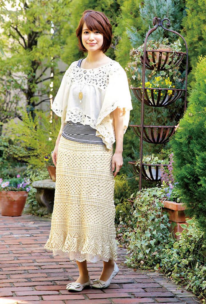 Crochet Lacy Long Skirt