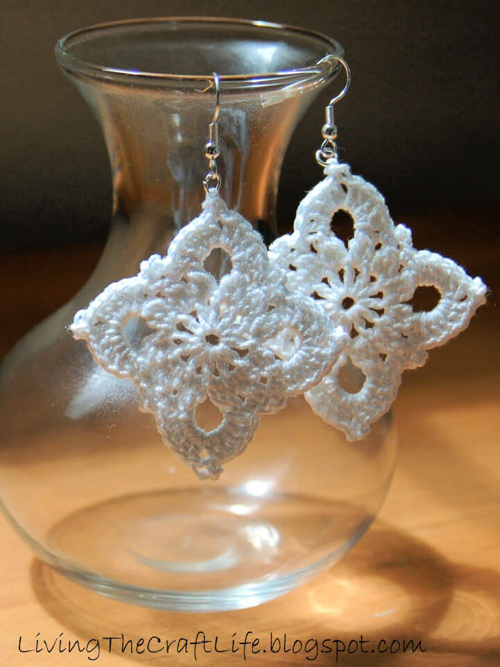 Crochet Large Royal Earrings