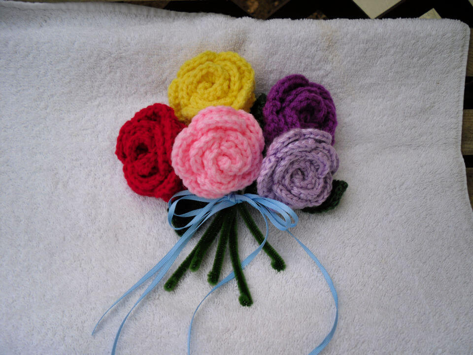 Crochet Mothers Day Flower Bouquet