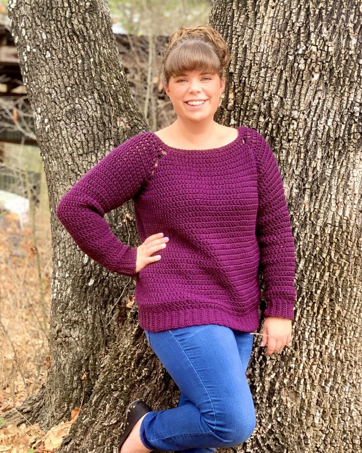 Crochet Peasy Raglan Sweater