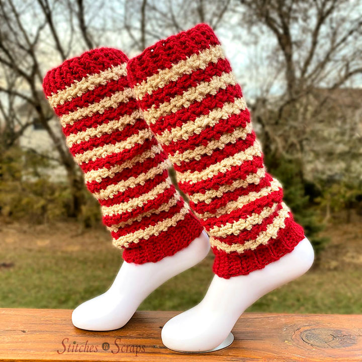 Crochet Peppermint Candy Leg Warmers