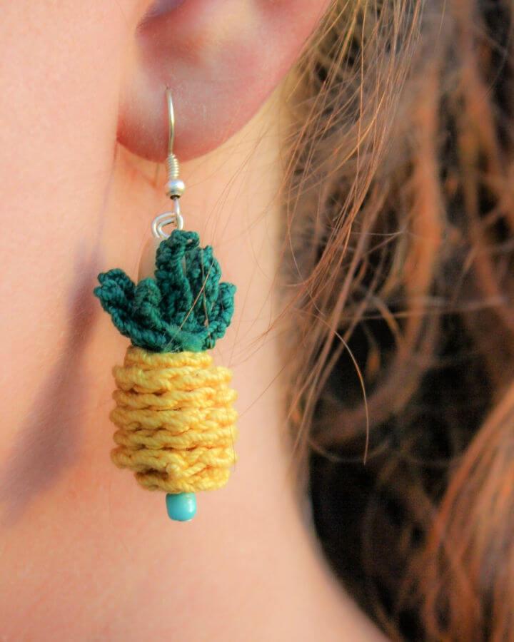 Crochet Pineapple Earring Pattern