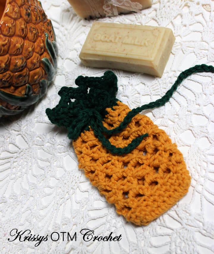 Crochet Pineapple Soap Bag Pattern
