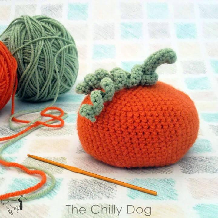 Crochet Pumpkin Bean Bag